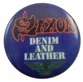 Saxon - 'Denim and Leather' Button Badge